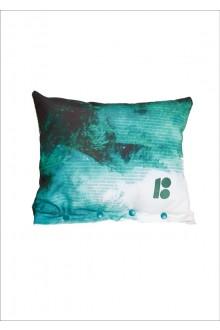 Декоративная подушка тёмно-зелёного цвета