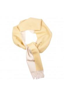 Шарф желто-белого цвета из шерсти альпака Great Natural Alpaca