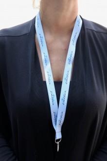 Комплект серых ремешков на шею с надписью ESTONIA, 20 шт