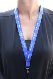 Комплект синих ремешков на шею с надписью ESTONIA, 50 шт