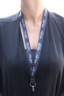 Комплект черных ремешков на шею с надписью ESTONIA, 20 шт