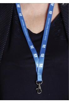Синяя лента на шею ЭР100, 50 шт.
