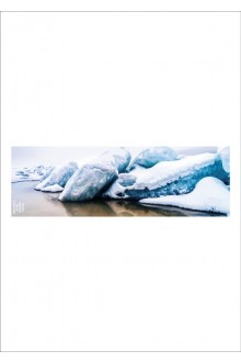 Шелковое кашне «Снег», 140x45 см