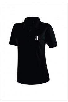 Мужская футболка-поло с символикой ЭР100, чёрный цвет