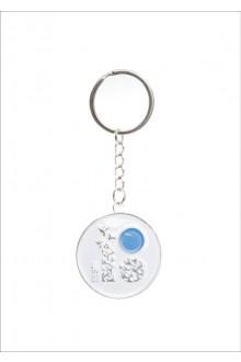 Металлический брелок для ключей с логотипом ЭР100, с ласточками