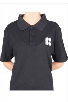Женская футболка-поло с символикой ЭР100, чёрный цвет