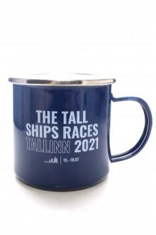 Металлическая кружка синего цвета THE TALL SHIPS RACES 2021