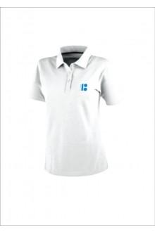 Мужская футболка-поло с символикой ЭР100, белый цвет