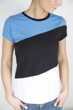 Женская футболка цветов флага ЭСТОНИИ