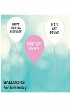 Комплект из 3 латексных воздушных шариков BIRTHDAY