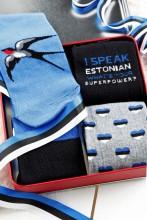 Подарочный набор с 4 парами хлопковых носков для женщин EESTI