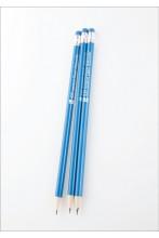 Простые карандаши ЭР100, синий корпус, 3 шт.