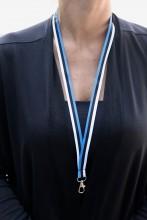 Комплект ремешков на шею с цветами флага Эстонии, 50 шт