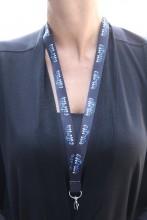 Комплект черных ремешков на шею с надписью ESTONIA, 50 шт