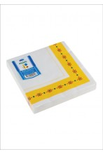 Салфетки 3-слойные Smile 33x33см, желтый