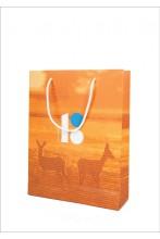 Подарочный бумажный пакет с изображением косули
