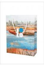 Подарочный бумажный пакет с изображением болота