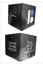 Куб из картона, чёрный