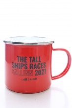 Металлическая кружка красного цвета THE TALL SHIPS RACES 2021