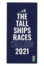 Пляжное полотенце синего цвета из микрофибры THE TALL SHIPS RACES 2021