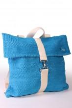 Рюкзак синего цвета из футболок с символикой певческого праздника 42 х 40 см