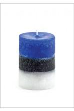 Сине-чёрно-белая настольная свеча