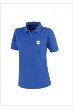 Мужская футболка-поло с символикой ЭР100, синий цвет