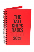 Записная книжка красного цвета THE TALL SHIPS RACES 2021