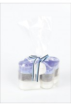 Чайные свечи в форме сердца, синие, чёрные и белые