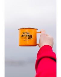 Металлическая кружка желтого цвета THE TALL SHIPS RACES 2021