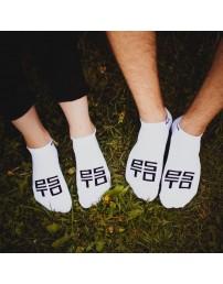 Низкие носки ESTO, цвет: белый