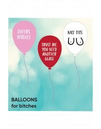 Комплект из 3 латексных воздушных шариков BITCHES