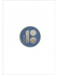 Нагрудный значок «Estonia», с магнитным креплением, синий цвет