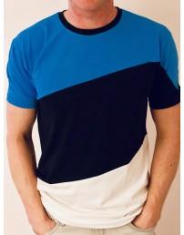 Мужская футболка цветов флага ЭСТОНИИ