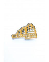 Нагрудный значок желтого цвета THE TALL SHIPS RACES 2021
