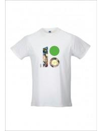 Мужская футболка с логотипом ЭР100, содержащим изображение блюд эстонской кухни