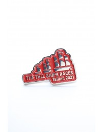 Нагрудный значок красного цвета THE TALL SHIPS RACES 2021