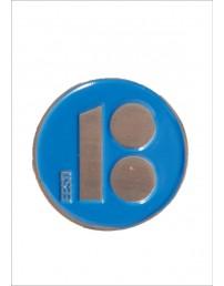 Нагрудные значки с магнитным креплением, синий цвет, 10шт.