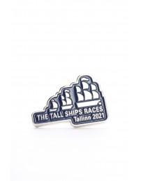 Нагрудный значок синего цвета THE TALL SHIPS RACES 2021