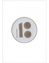 Нагрудный значок «Estonia», с магнитным креплением, белый цвет